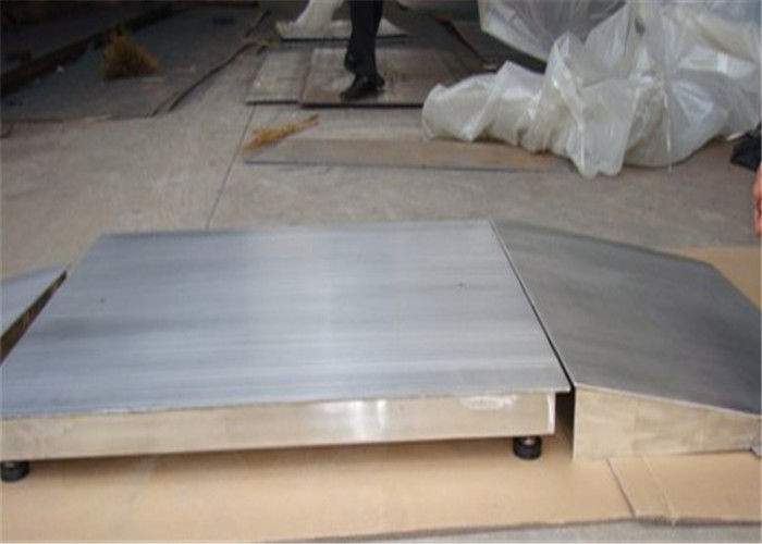 Corrosion Resistant Industrial Floor Scale Stainless Steel 4 Load Cells